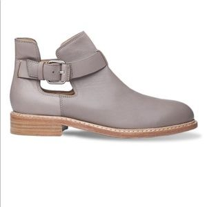 NWT Liebeskind Gray Buckle Leather Ankle Boot